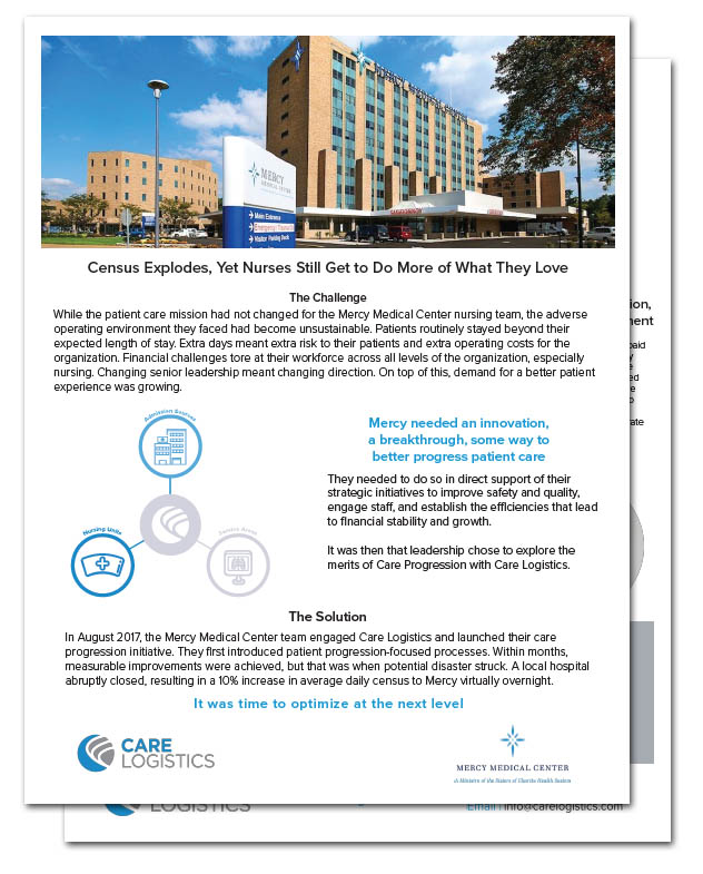 See how Mercy Medical Center overcame the barriers to patient progression