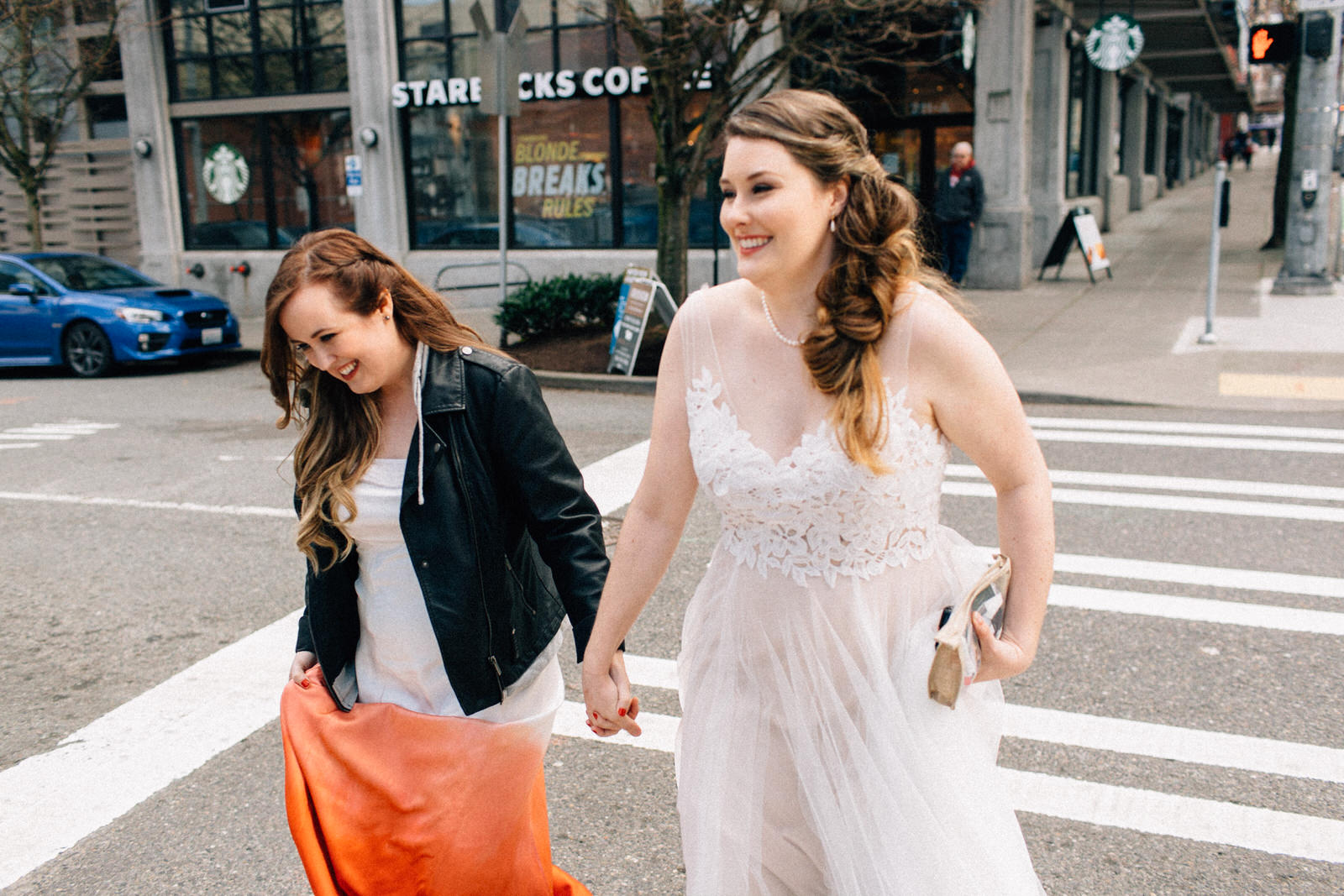 seattle feminist wedding photographer lgbtq lgbt queer wedding downtown fuck yeah weddings kendall lauren shea