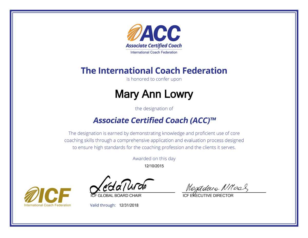 International coach federation ADHD