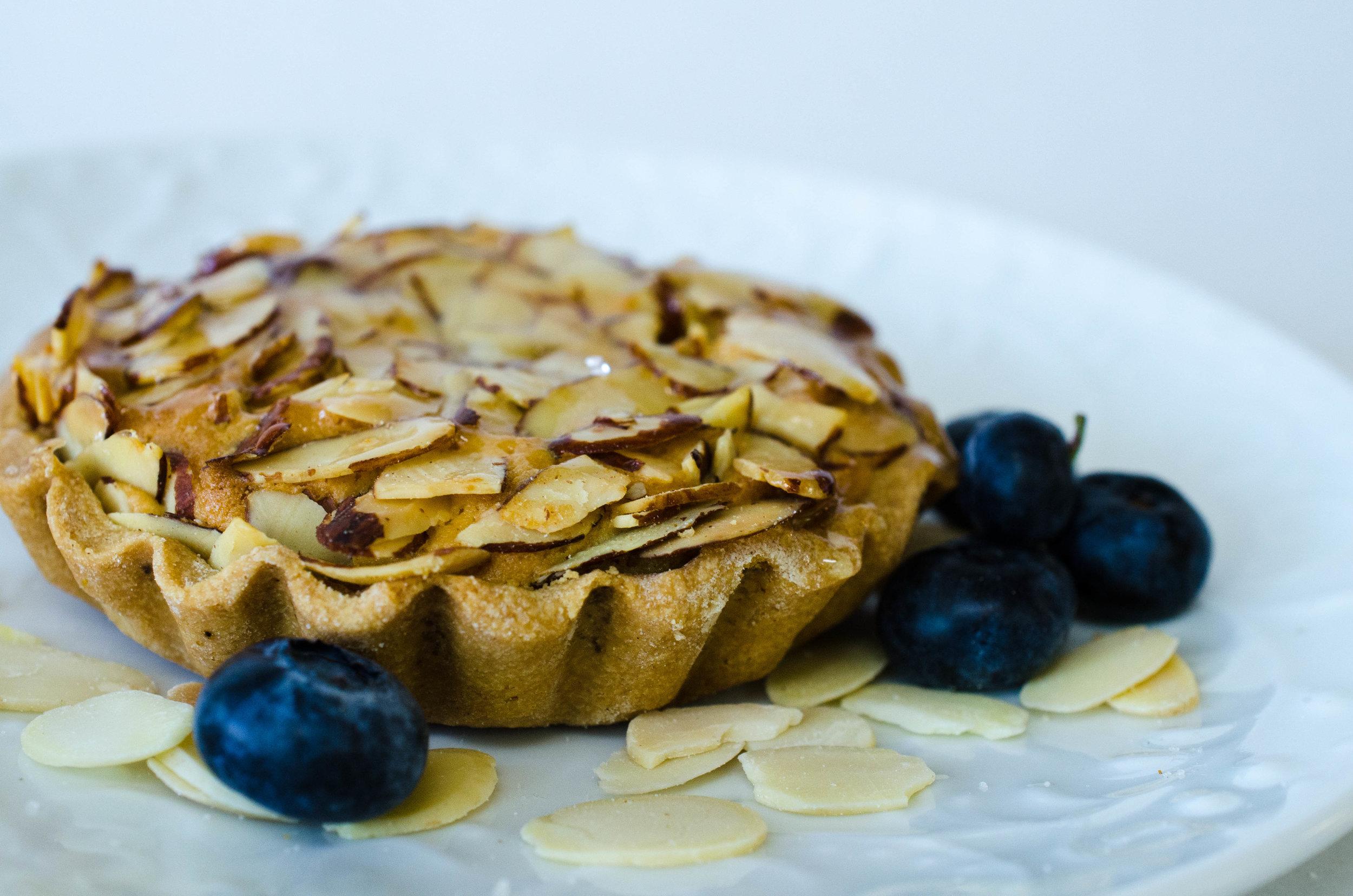 Almond Tart (w/ blueberries)