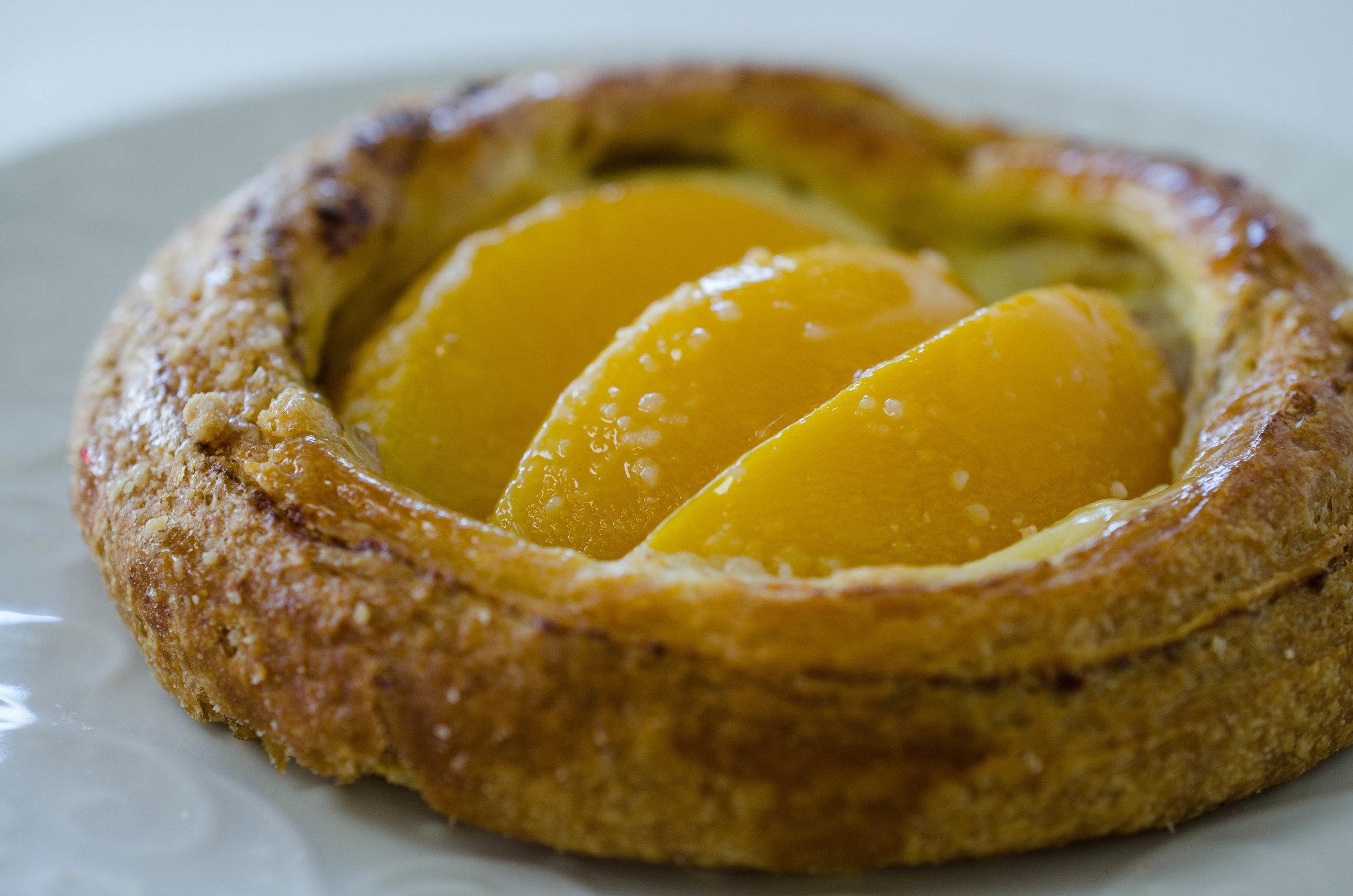Peach Custard Danish