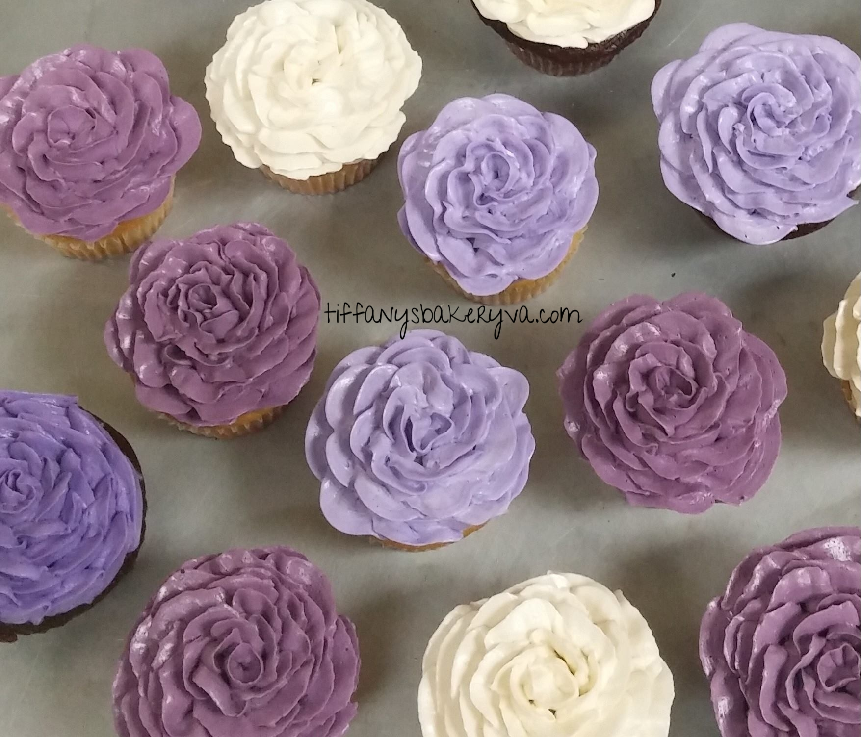 Sprouting Rose Cupcakes
