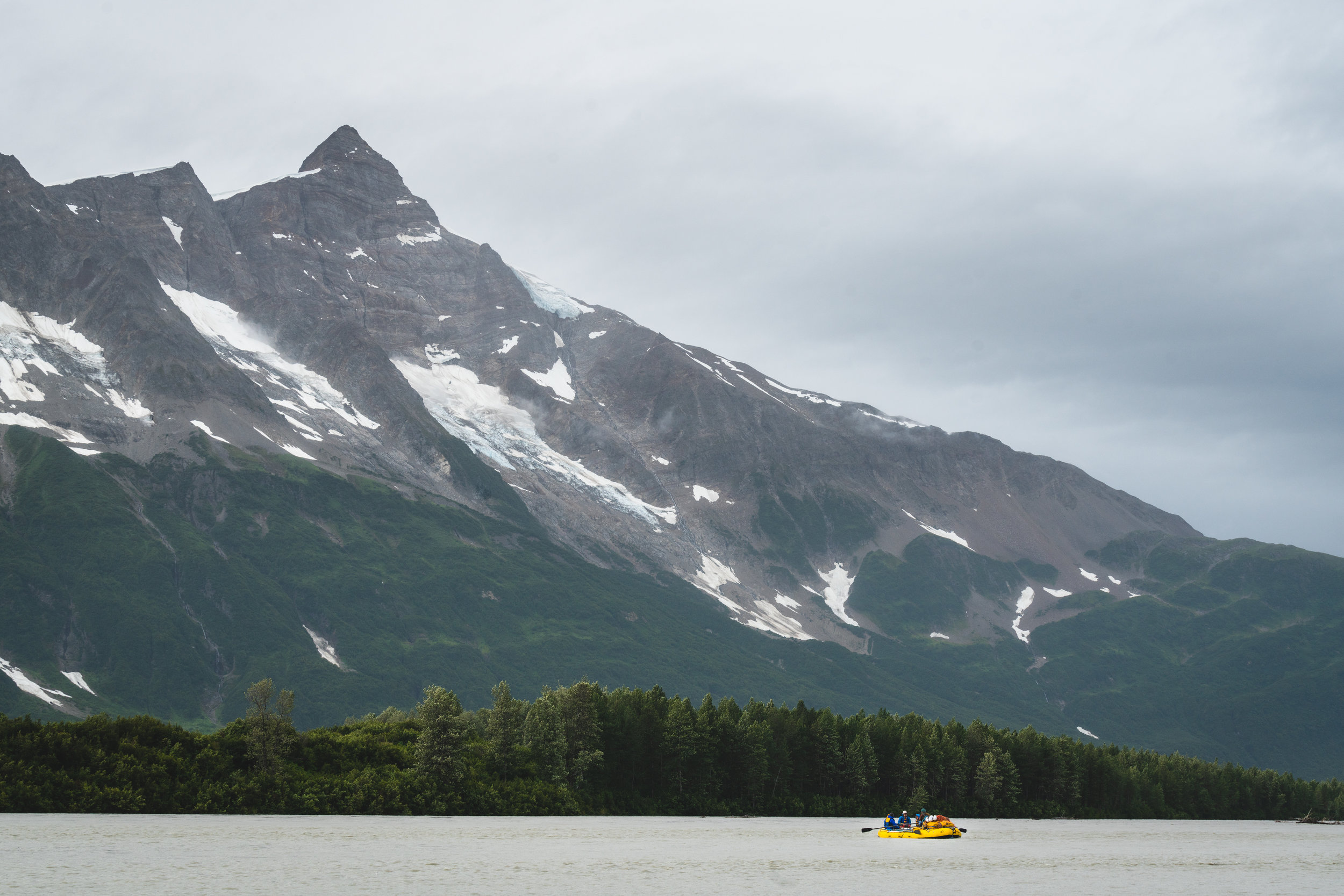 Moments after we transferred from the Tatshenshini to the Alsek River.