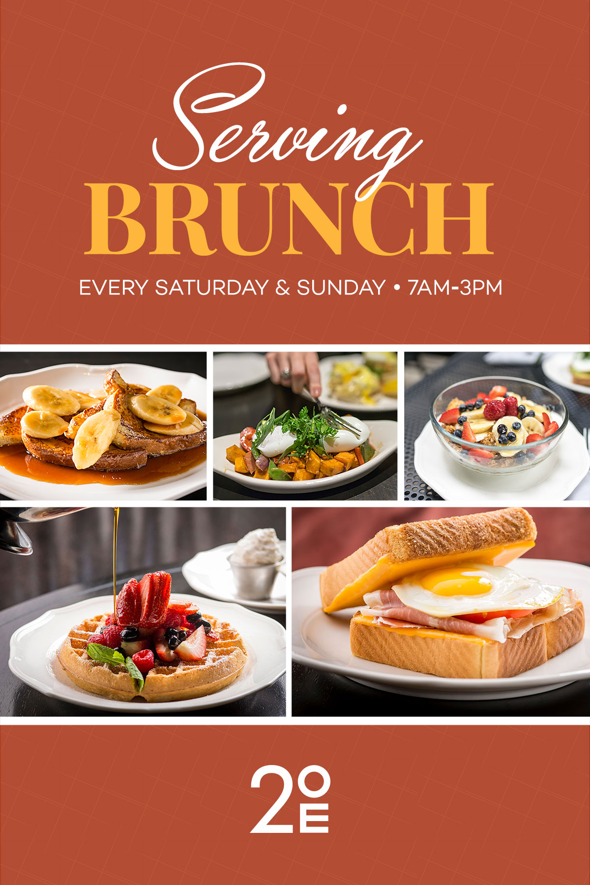 Join us for Brunch in the Gold Coast! - Serving an a la carte brunch every Saturday & Sunday from 7am - 3pm