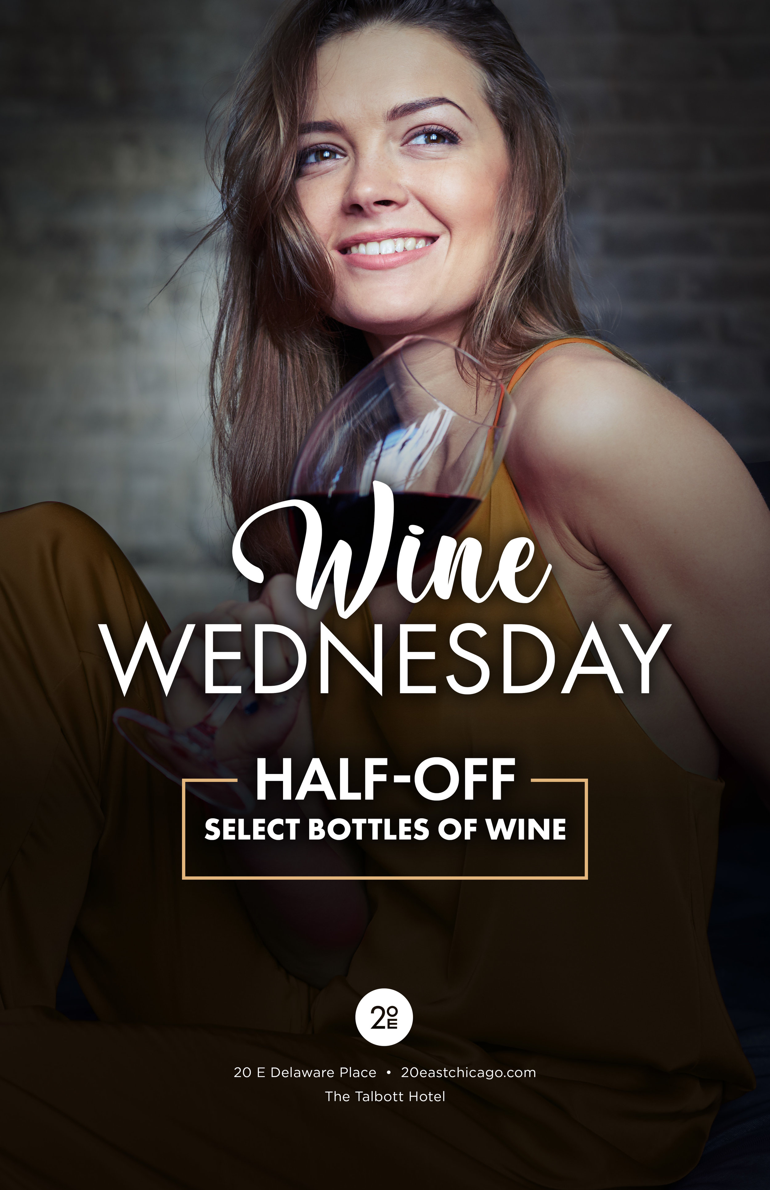 Join us for Wine Wednesday each week and enjoy half-off select bottles of wine -