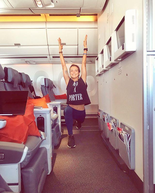 Empty plane?! More space for yoga in the air ☺️🤸🏼♂️ • • #yogaeverywhere #yogi #yogaflow #ontheplane #yogaintheair #whynot #yogagirls #yogagirl #sunsalutation #wanderlust #wanderlustlife #travelgirl #travellingyogi #travelandlife