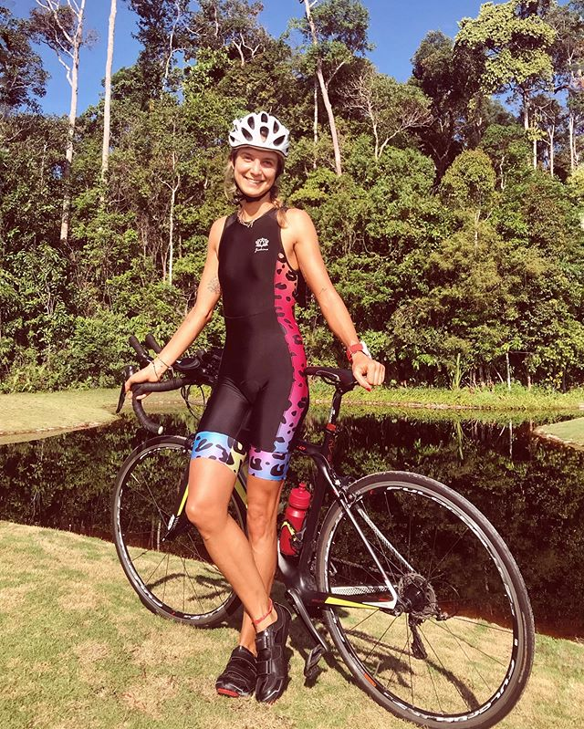 Sunny days, colourful trisuits and wild nature! What else? 🙏🏻❤️ In @jiakina_customized with my beloved leopard print!! • • #alive #triathlongirl #triathlontraining #triathlonlife #bikeroutfit #cyclingjerseys #cyclinggirl #cyclinglife #cyclingsunglasses #triathlon_world #bintantriathlon #bintanride #bintan #rudyhelmet #ridinginbintan #triathlon_in_the_world #humansoftriathlon #cyclingwomen #triathlonlifestyle #triathlonbabes #cyclinggear @jiakina_customized @humansoftriathlon @garminsg