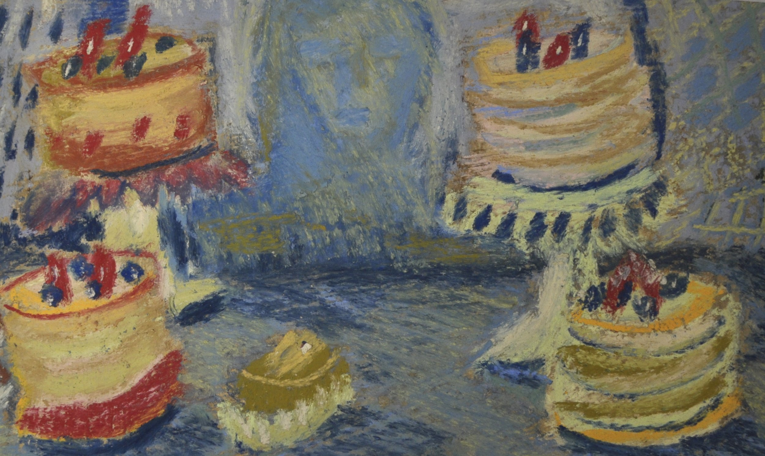 nbrookfield, Untitled (Cake), 20x12cm, Pastel on Paper, 2019.JPG