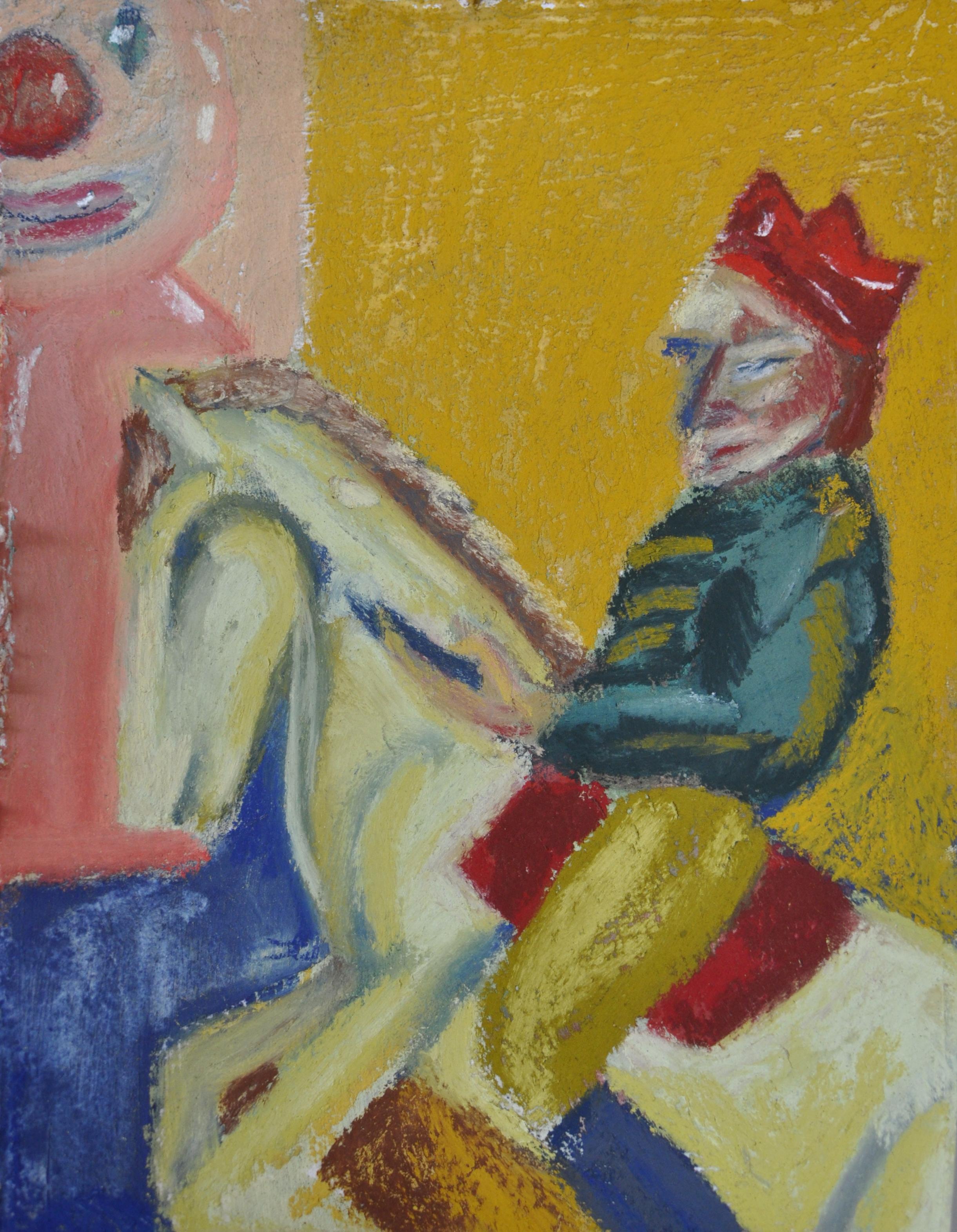 nbrookfield, millennial on a Horse,18x23cm, pastel on paper, 2019.JPG