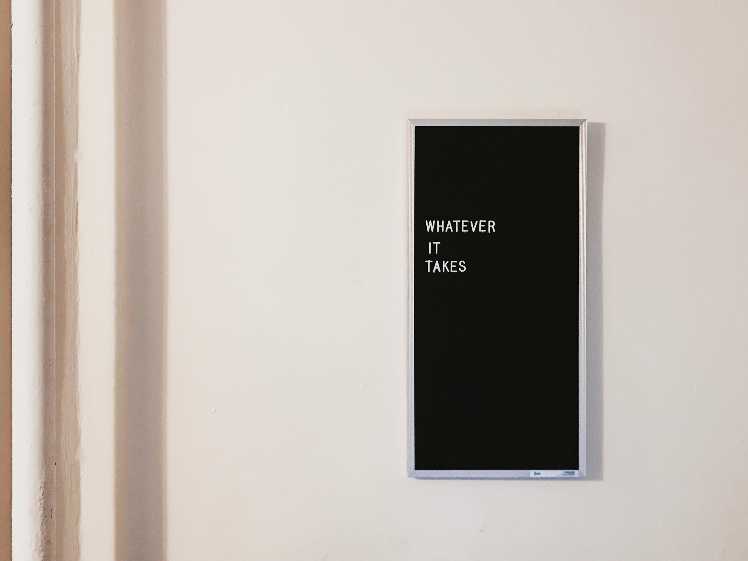 Have a sign made. - In the same way that we recommend creating a web page for your online visitors, you should do the same for your customers and staff. Design a striking sign and then hang it somewhere that everyone can find it, read it and understand it.