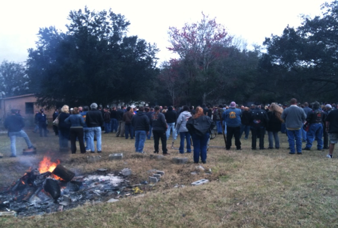 Dwayne's memorial service at the Nam Knights Orlando chapter clubhouse. (Photo by JT)