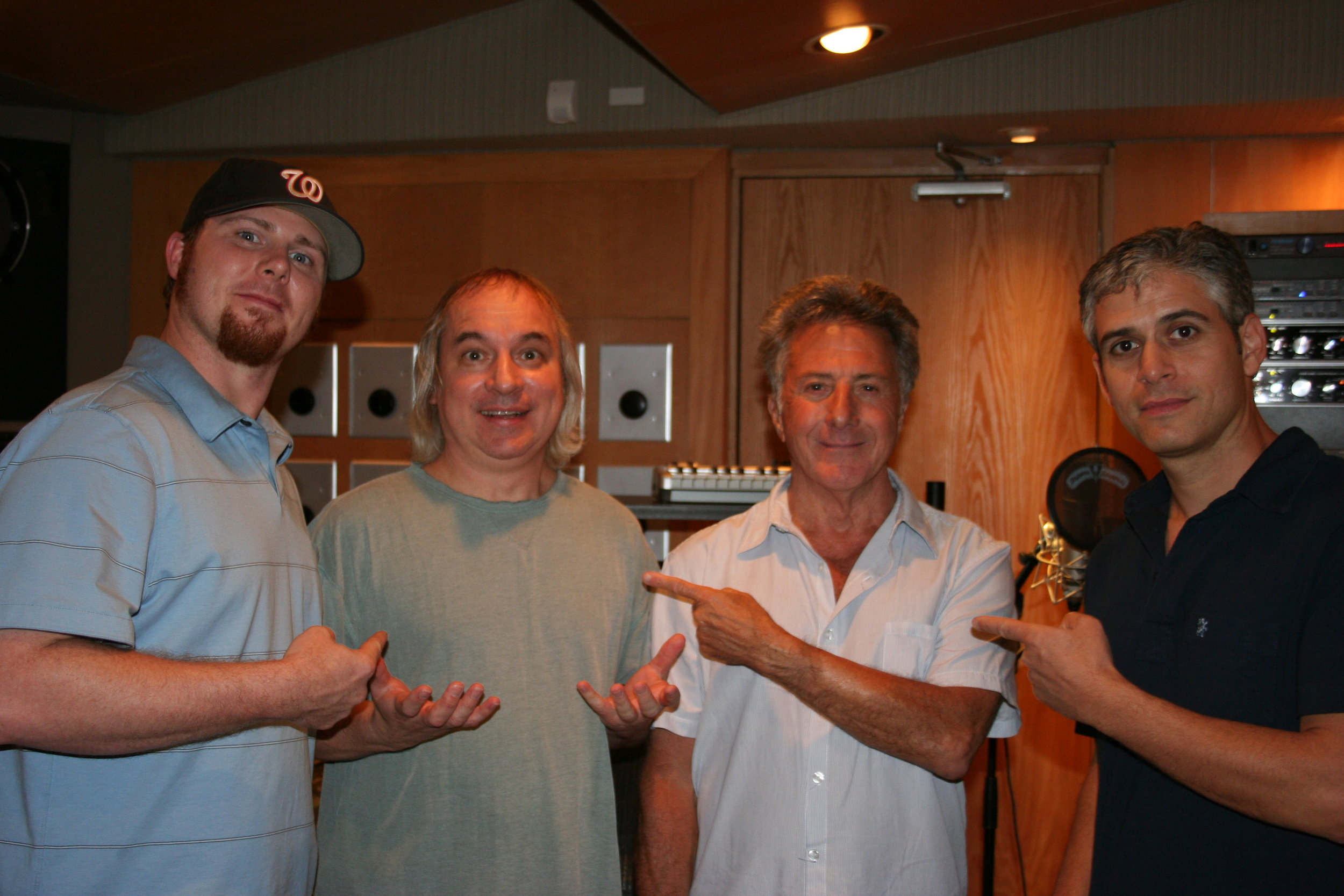 Dustin Hoffman with Eric Bricker and the Threshold crew.
