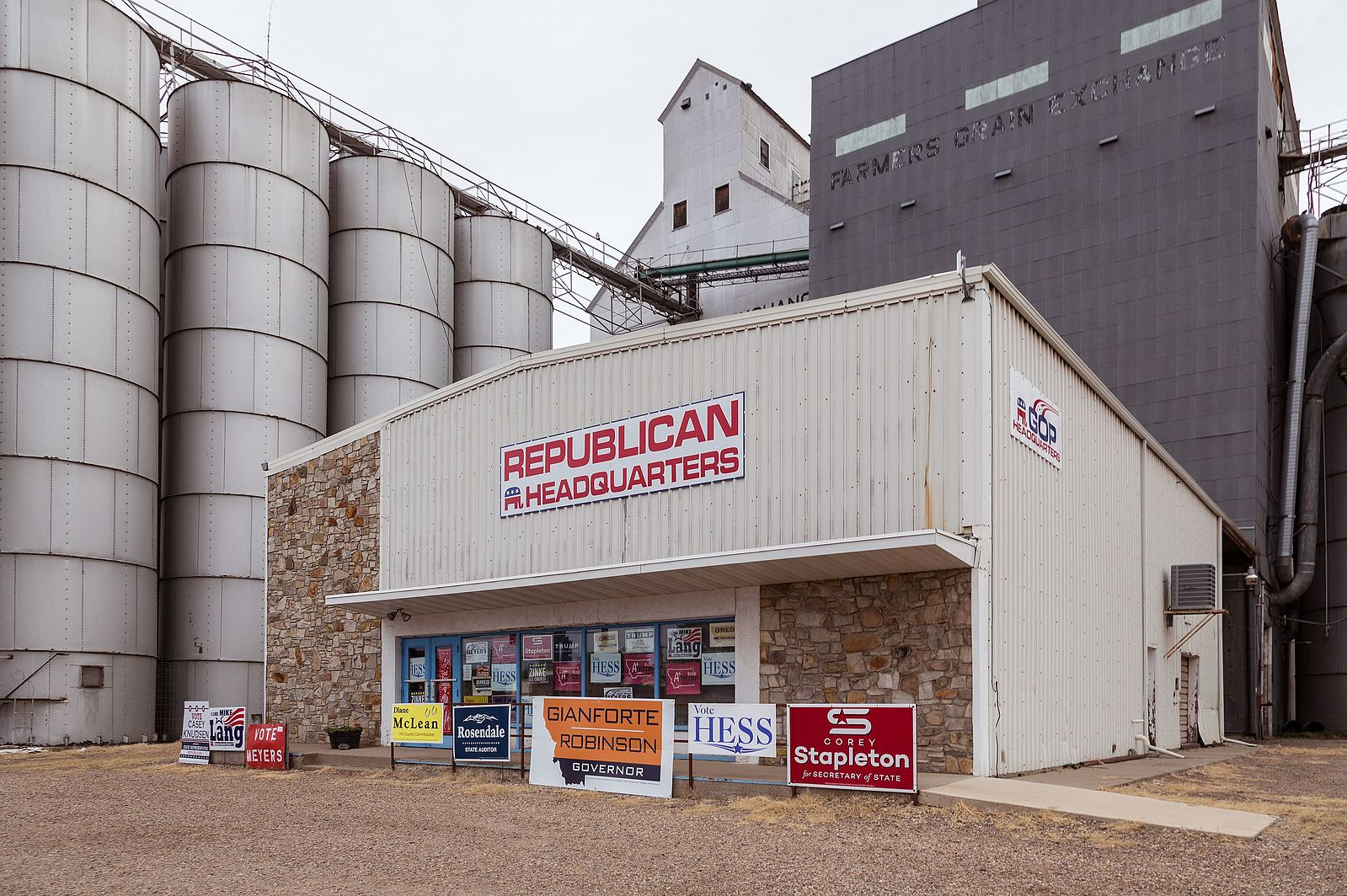 1st Street GOP Headquarters in Havre, Montana.