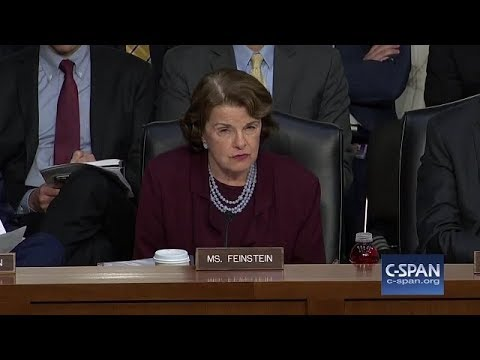 Senator Feinstein spoke to the three tech giants during the Senate Judiciary Committee hearing.