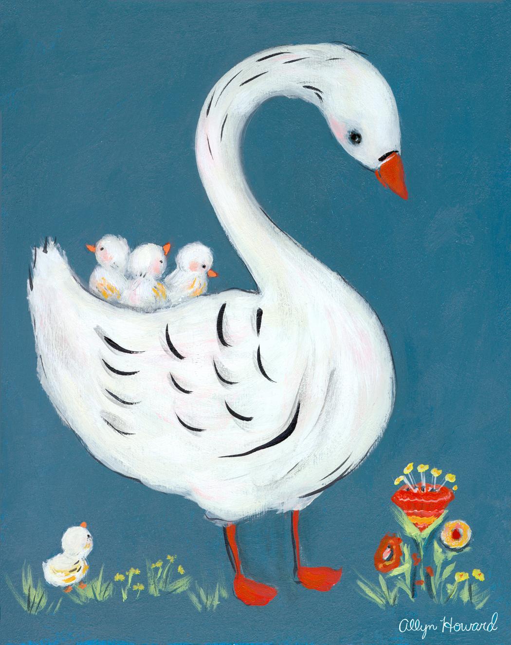 allyn_howard_Swan_with_babies.jpg