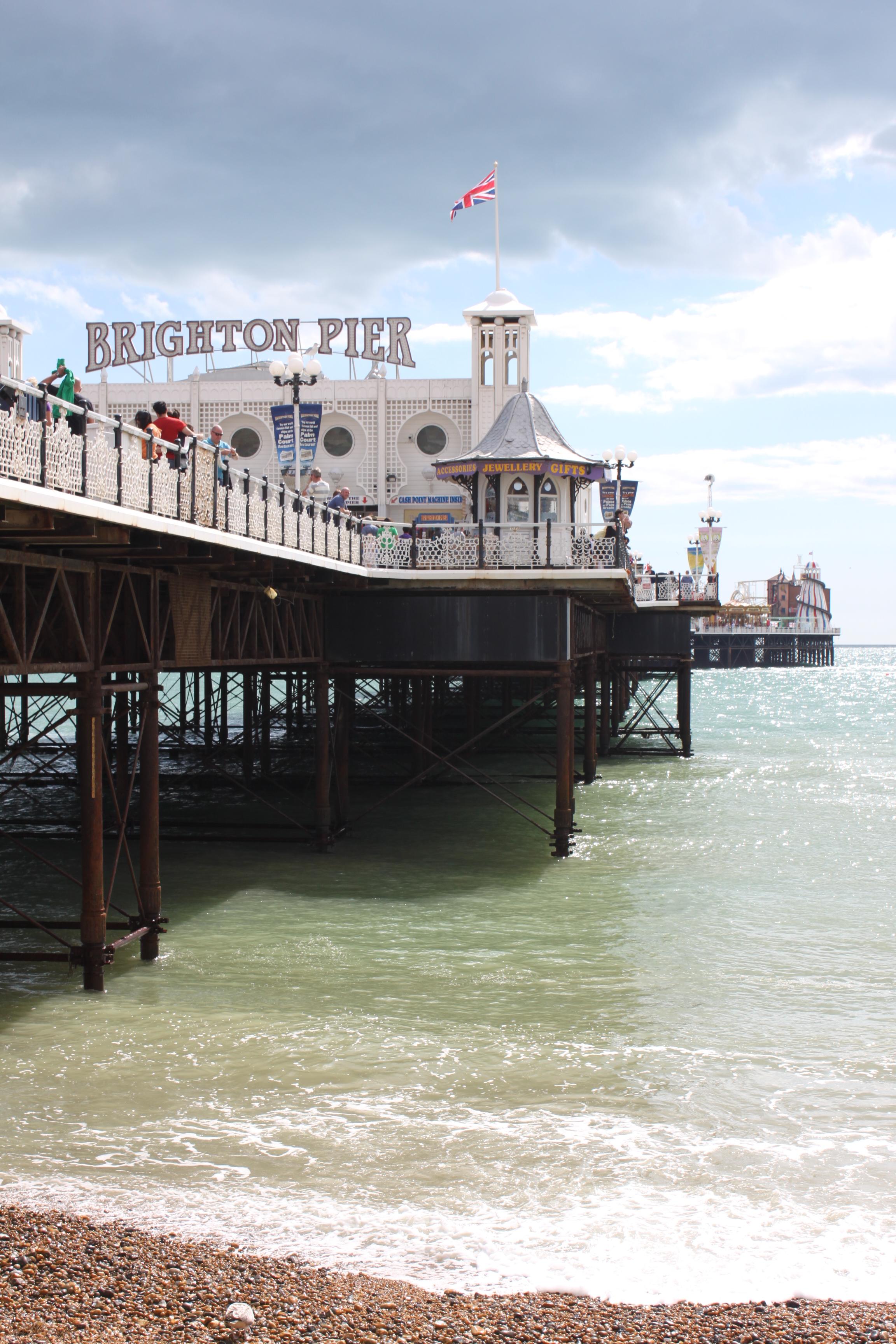 Brighton Pier, a popular destination in the city.
