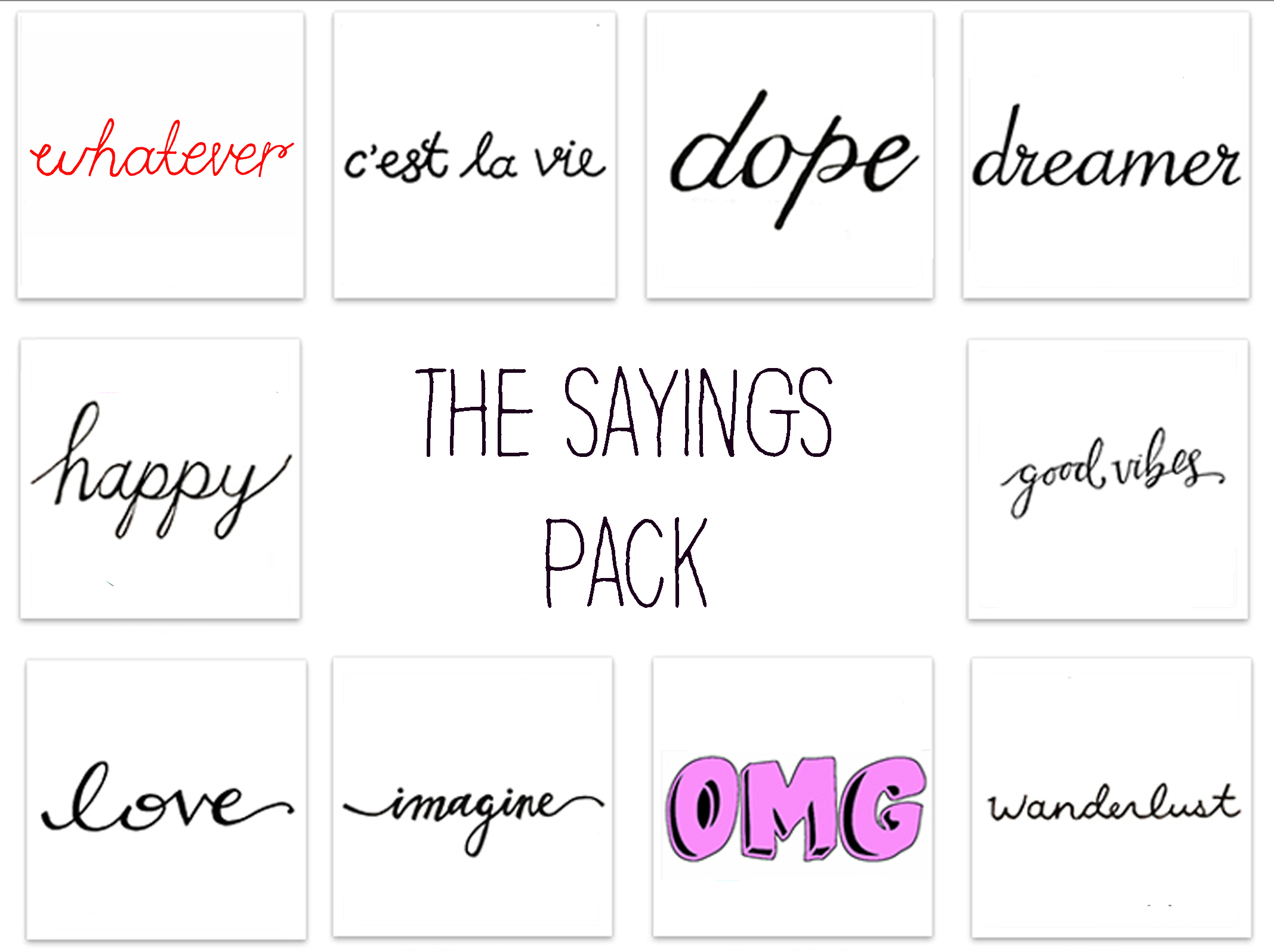 The Sayings Pack