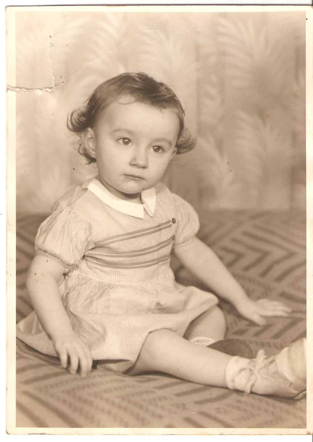 Rose as a baby.