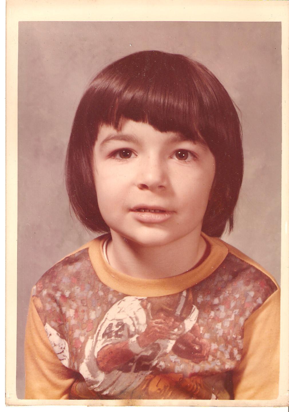 Charles in Kindergarten.