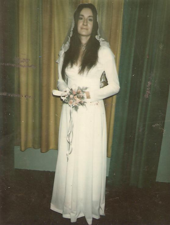 Rose on her wedding day, 1972.