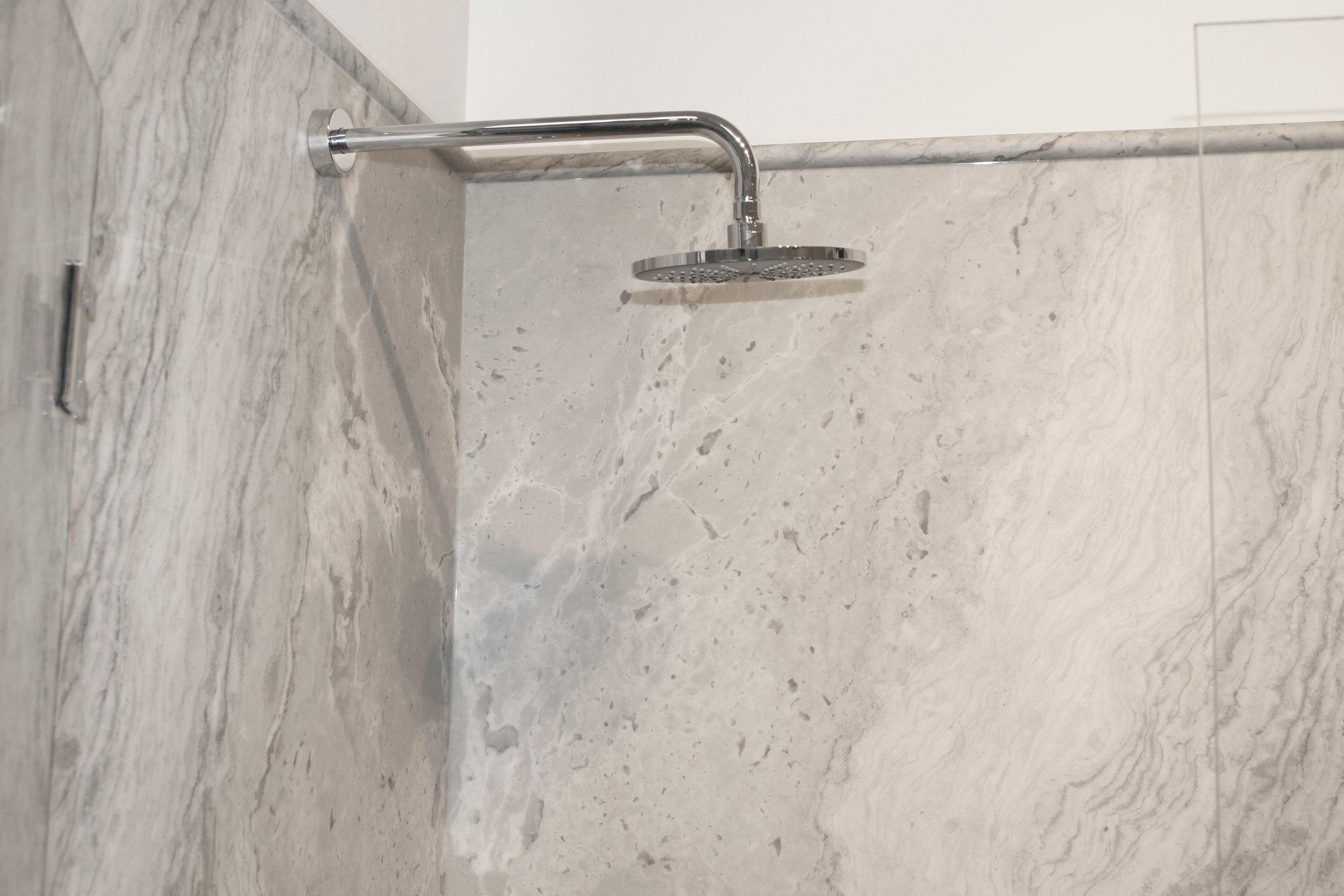 A Tyvarian shower surround.