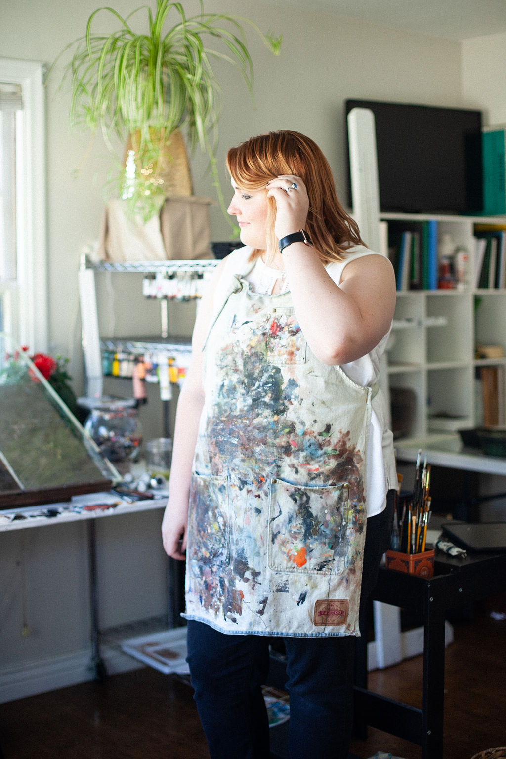 Haily South photographed in studio by Ashley Thalman Photography