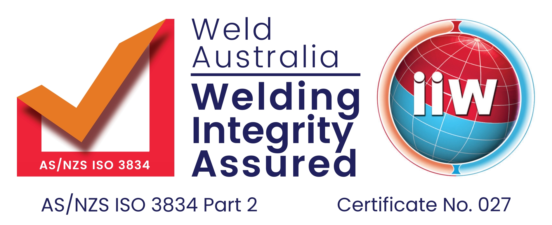 AS/NZS ISO 3834 Part 2 - Comprehensive quality requirements for fusion welding of metallic materials both in workshop and at field installation sites.