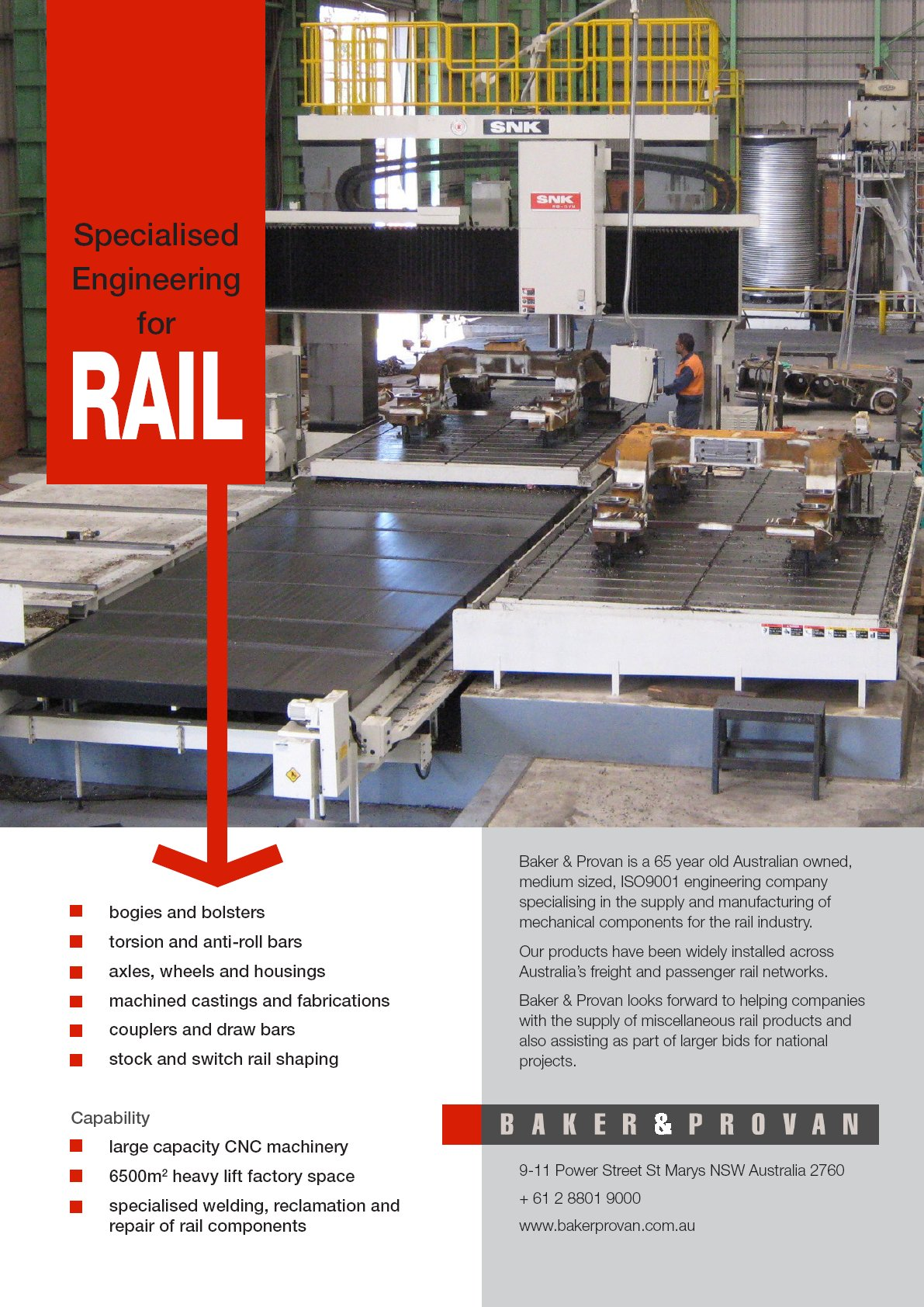 Baker & Provan Rail Brochure