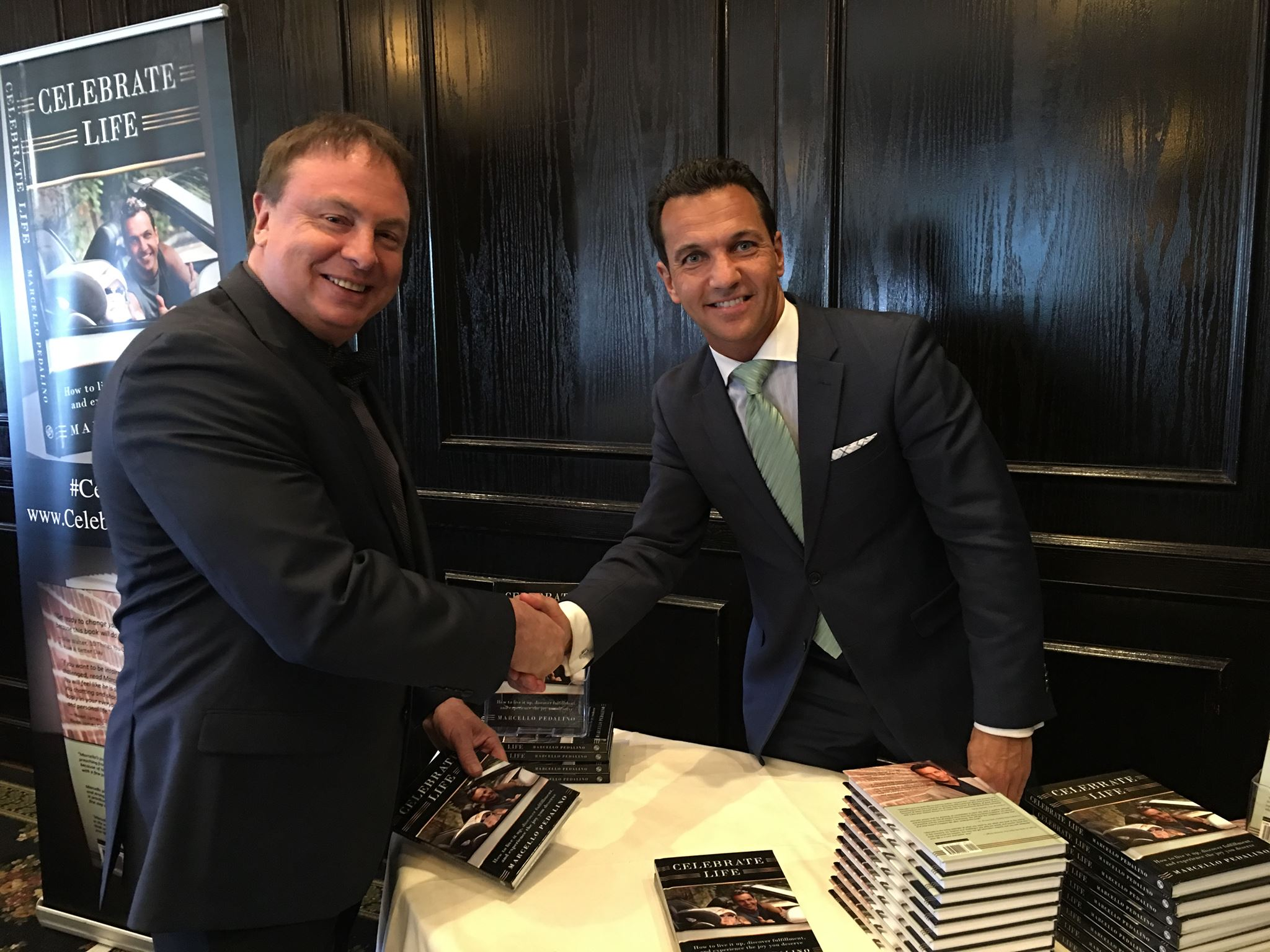 Celebrate Life author, Marcello Pedalino, at a New Jersey book signing.