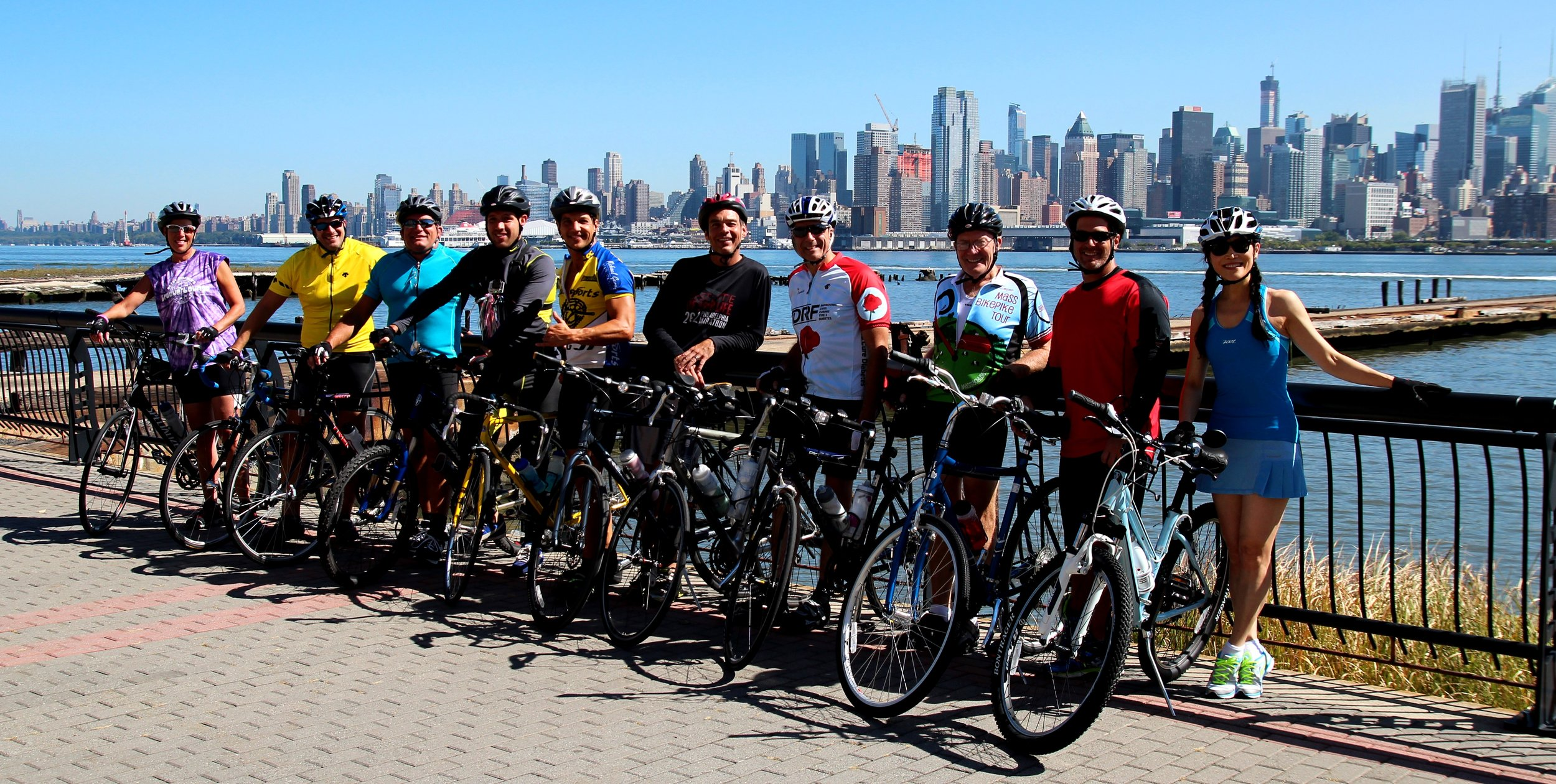 Group Fitness outing in NYC with Marcello. The annual Celebrate Life® Ride in NYC.