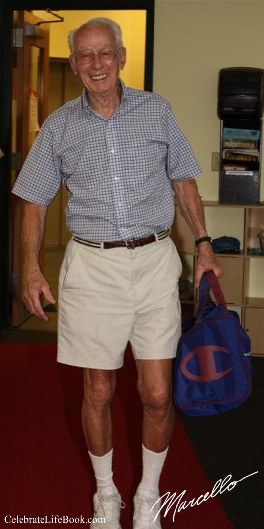My friend,  Artie Evans, on his 90th birthday.2010.