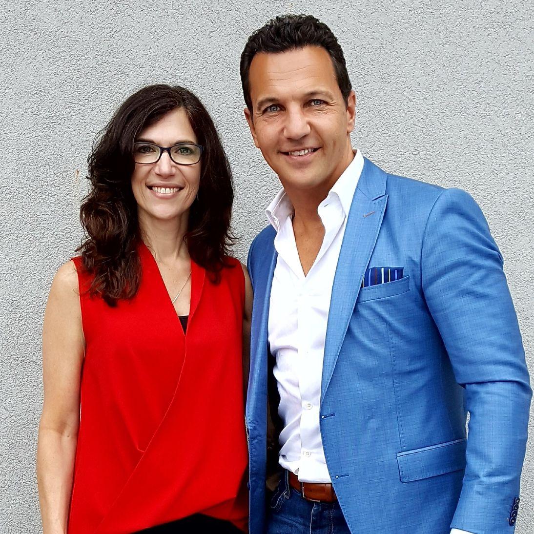 Marcello Pedalino and Deirdre Breckenridge at Sushi Lounge