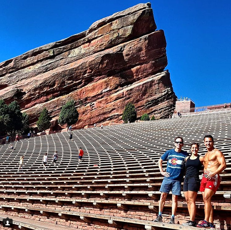 Ron Michaels, Dr. Jill Pedalino, & Marcello Pedalino at Red Rocks ampitheartre- Colorado