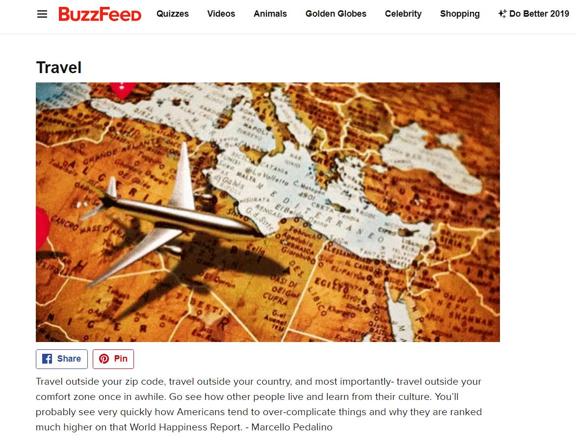 Marcello Pedalino, Buzzfeed, Travel, Celebrate Life