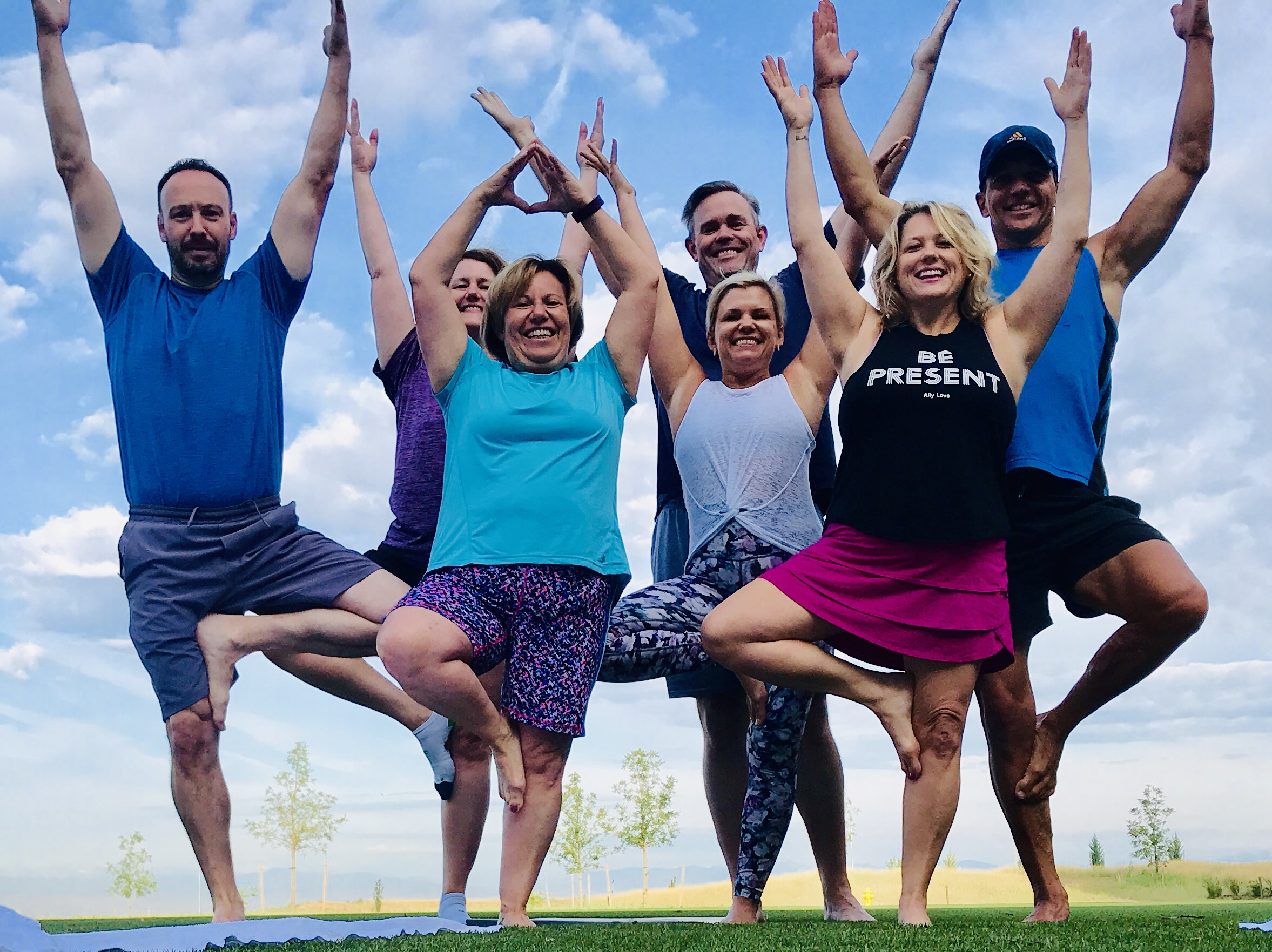 Group yoga session let by Lesley Henry at the Gaylord Resort in Colorado.