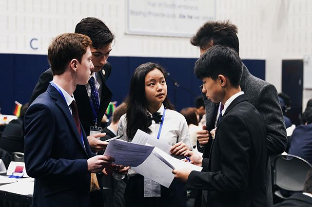 ECOSOC in the midst of serious discussion #cissmunx