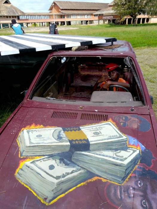 DOllar Bill Car