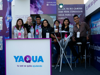 The YAQUA team gathered to share information about the social enterprise at the Lab4 Conference in Peru in 2016.