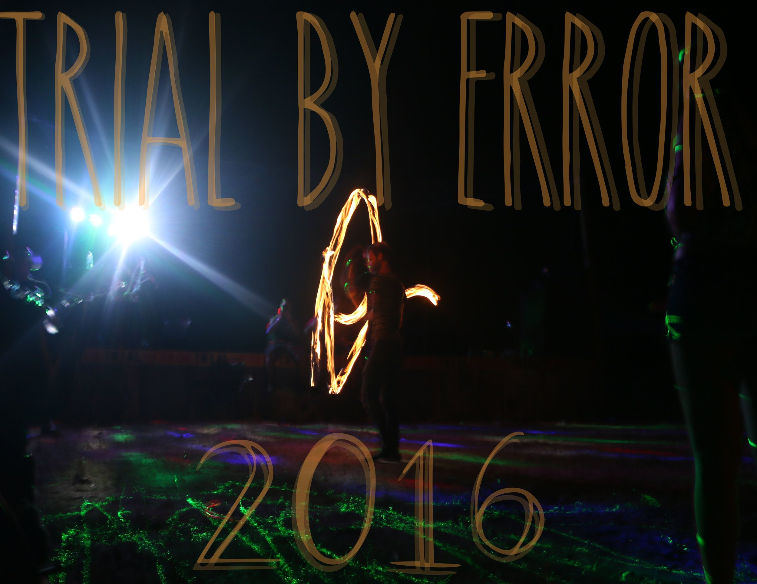 A little bit of  FIREY FUN  at the late night dance party of  Trial By Error  '16