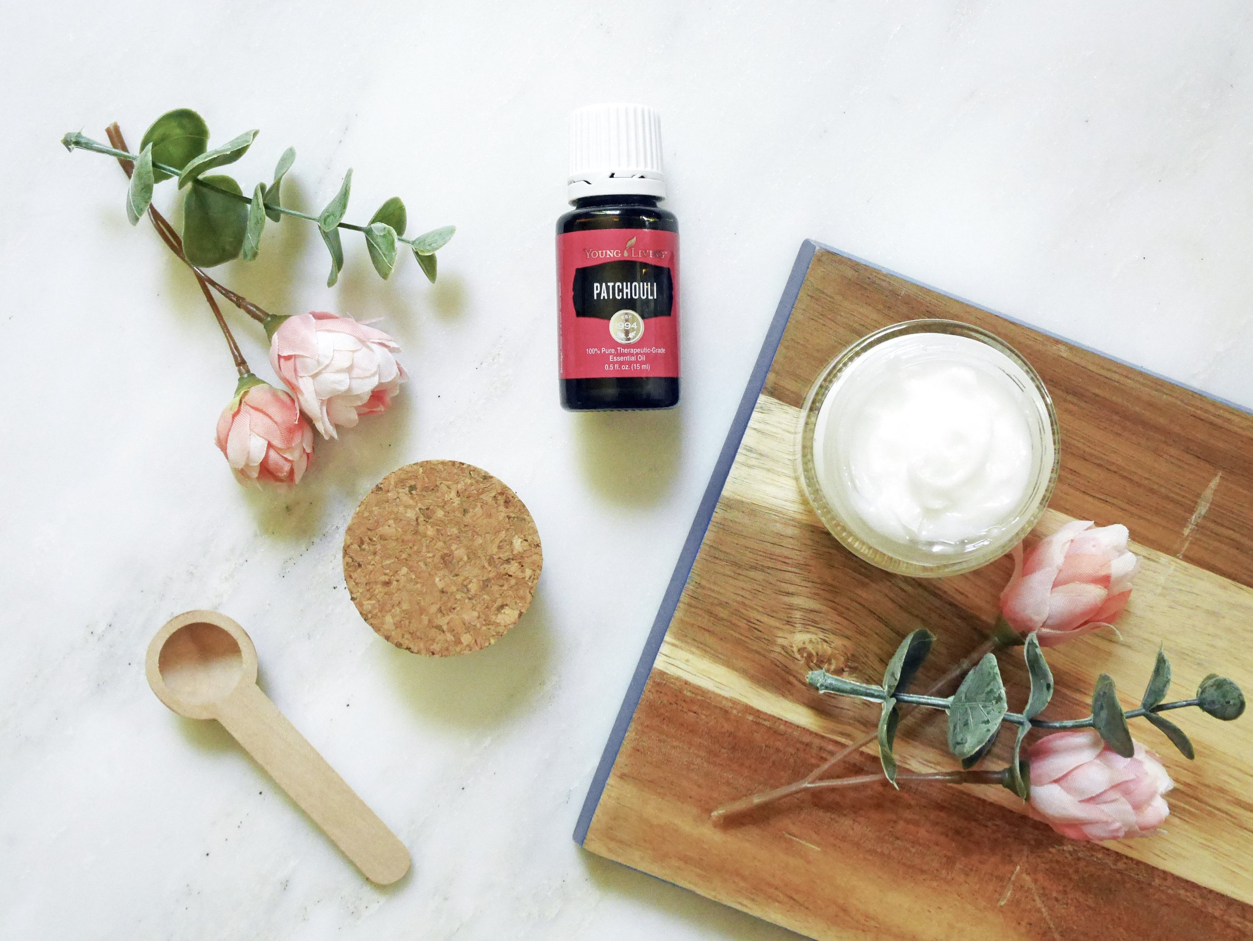 Young-Living-Essential-Oils-Patchouli-DIY-Soothing-Bath-Balm-Lotion-vitamin-3-coconut-oil-Green-natural-The-Oily-Home-Companion.JPG