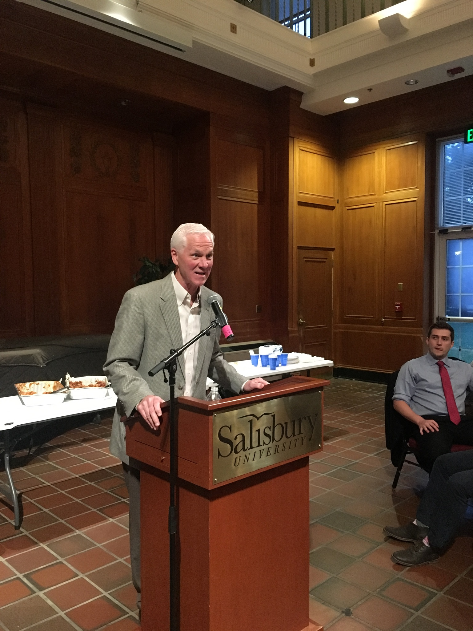 Jerry Knight addressing the 2018-2019 Kappa Sigma - Pi Sigma chapter