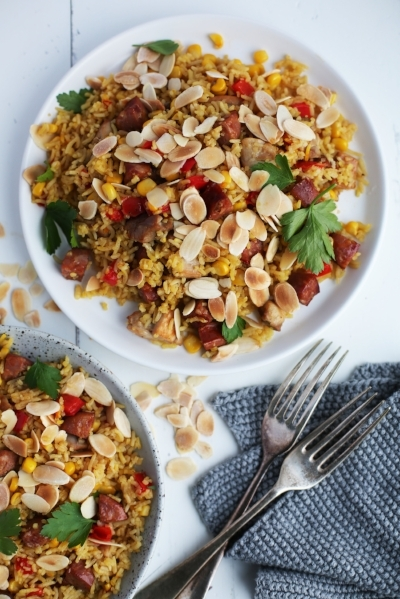 Chicken and chorizo pilaf Karen McFarlane.jpg