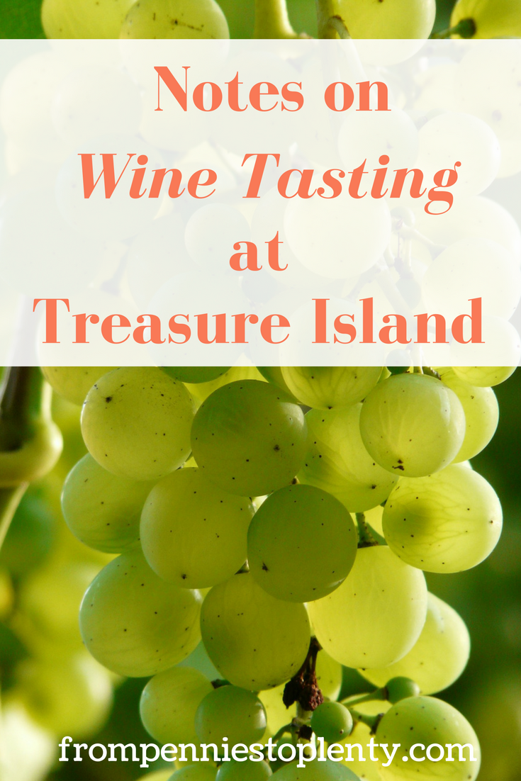 Notes on Wine Tasting at Treasure Island