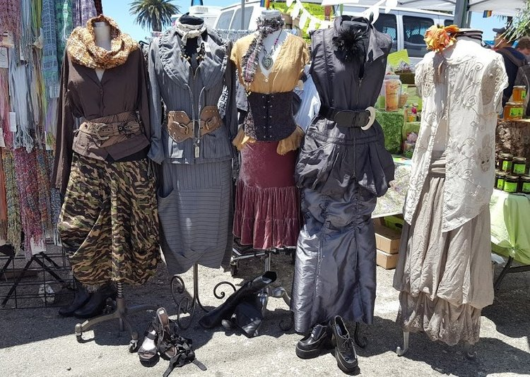 An awesome display of steampunk clothing