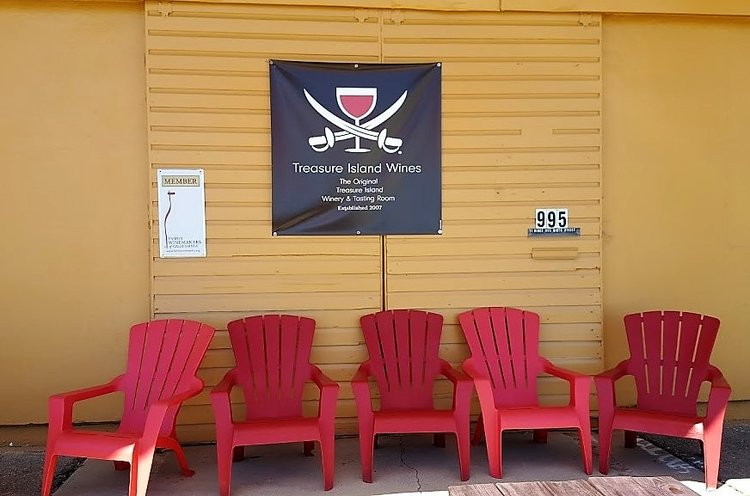 Outside of Treasure Island Wines