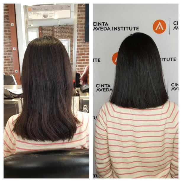 My haircut (before & after)