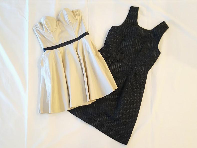 Alice & Olivia dress & Madewell dress