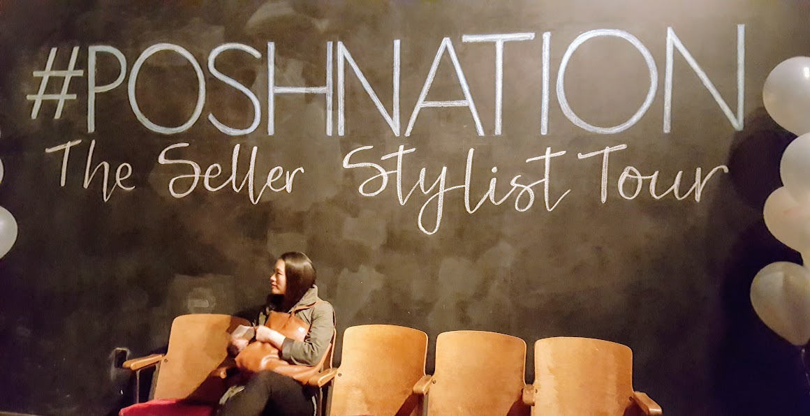 Chalkboard wall at the PoshNation event