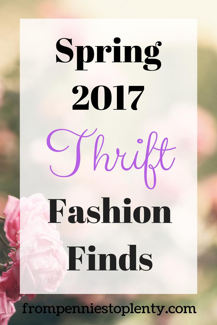 Spring 2017 Thrift Fashion Finds