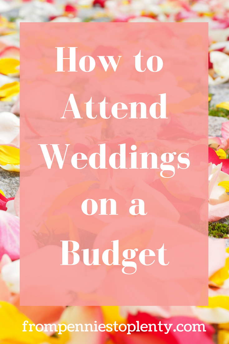 how to attend weddings on a budget